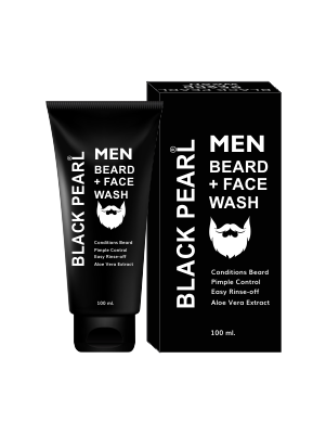 mens beard + face wash