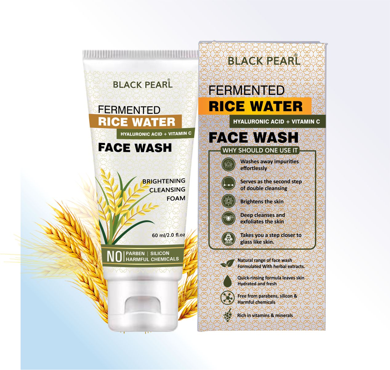 Cosmetic Manufacturer Pune fermented rice water face wash