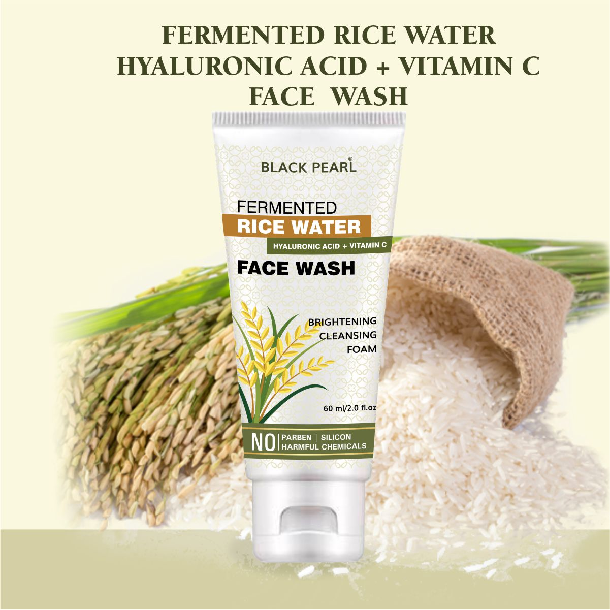 Cosmetic Manufacturer Pune fermented rice water hyaluronic acid vitamin c face wash