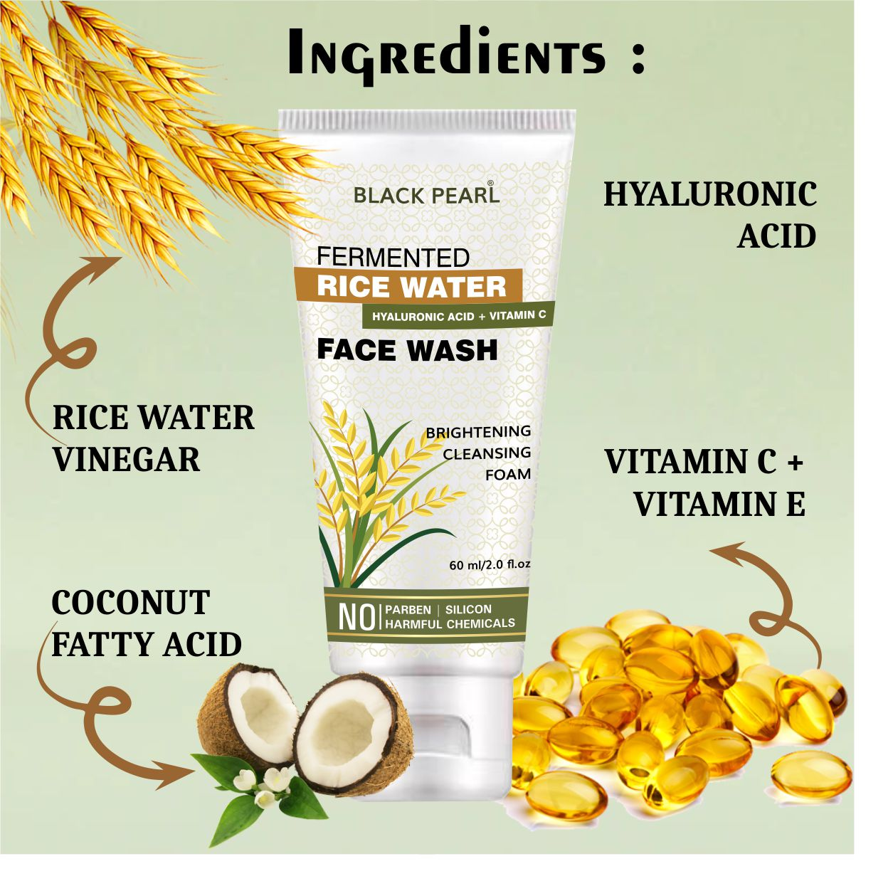 Cosmetic Manufacturer Pune Rice water face wash ingredients