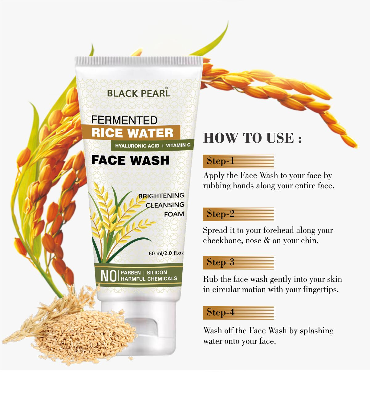 Rice water face wash how to use