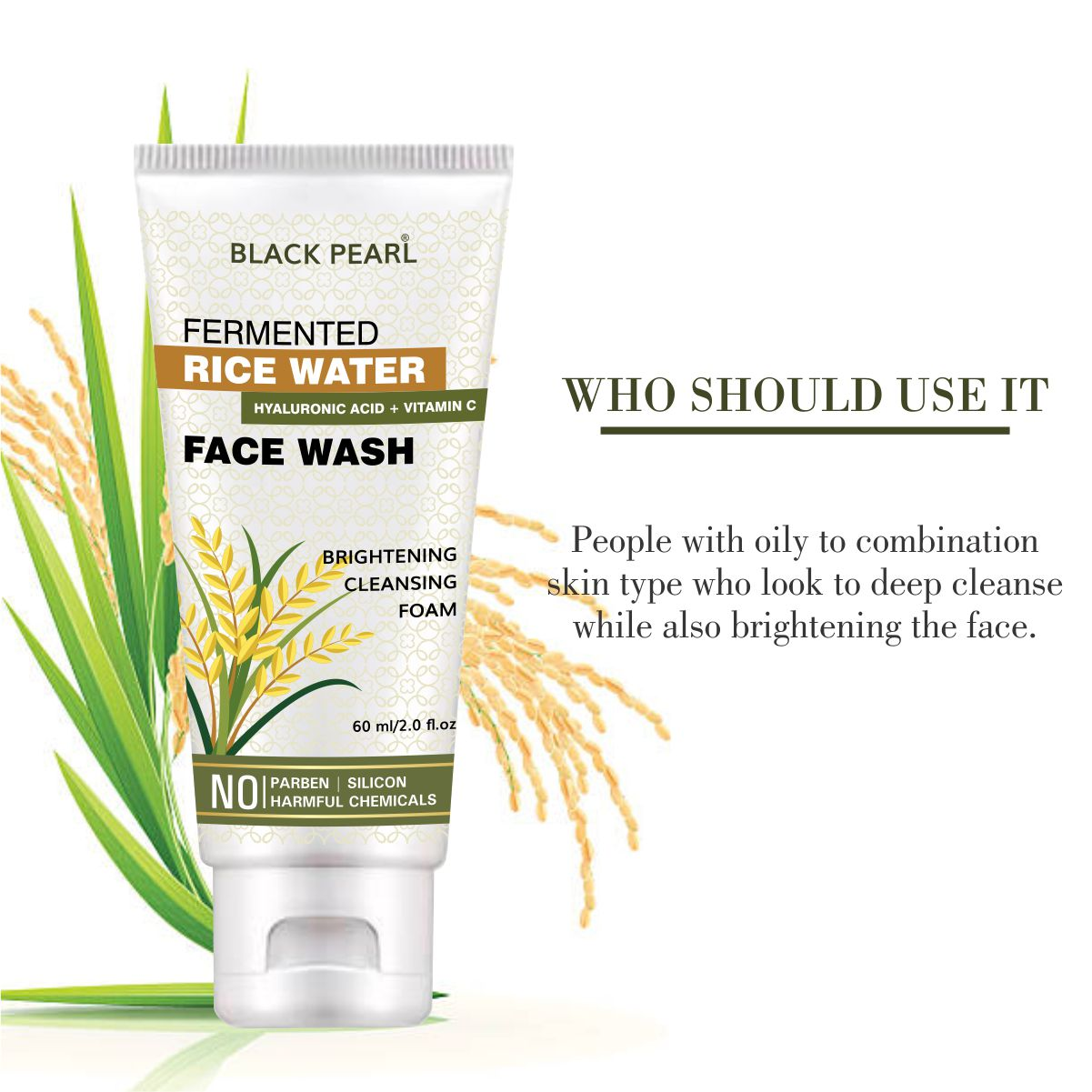Cosmetic Manufacturer Pune fermented rice water face wash who should use it