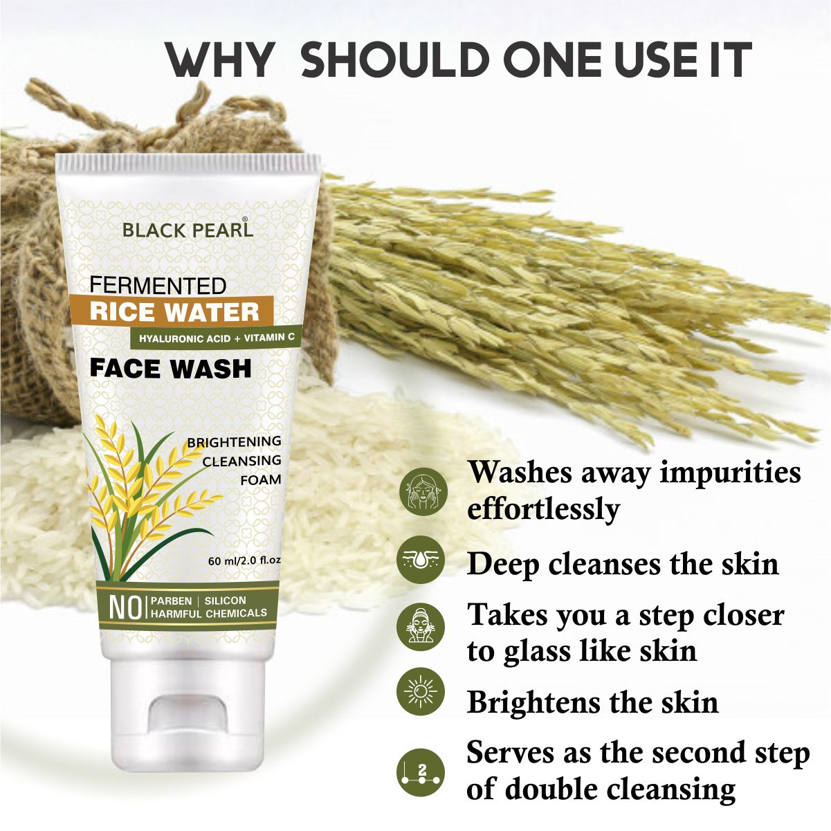 Cosmetic Manufacturer Pune fermented rice water face wash why should one use it