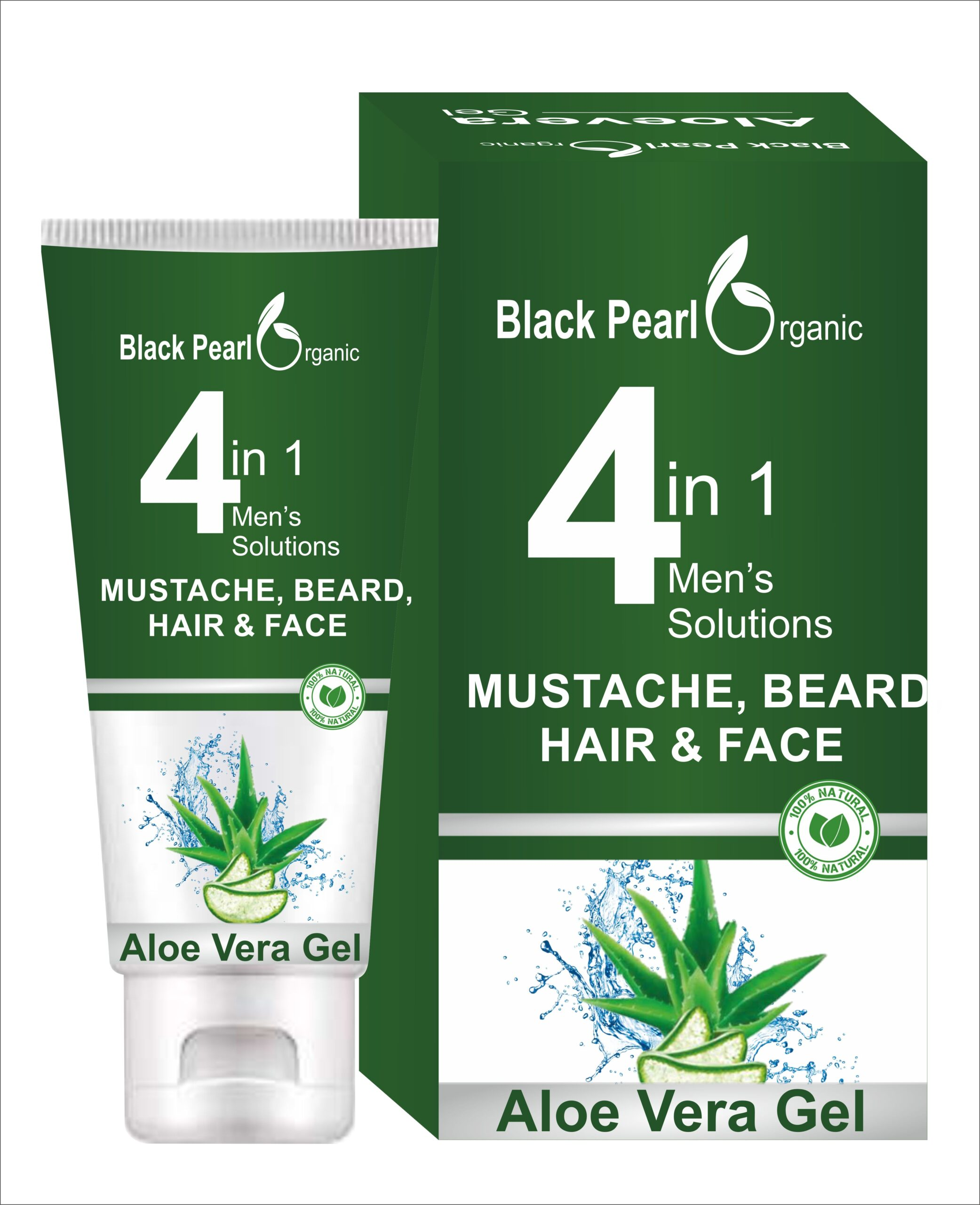 MUSCTACHE BEARD FACE ALOEVERA GEL