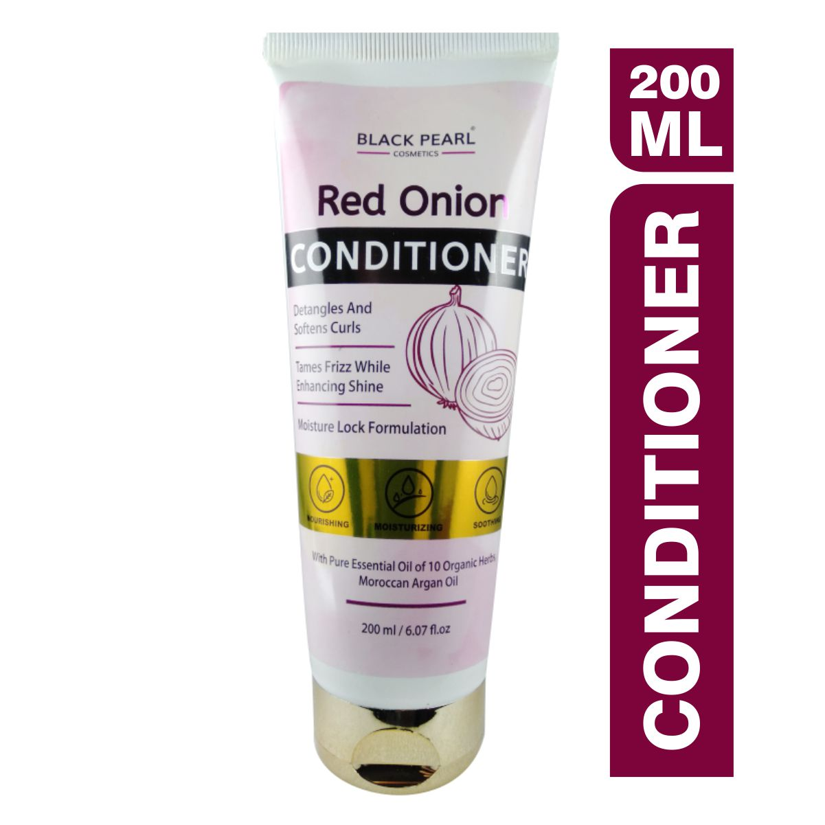 Cosmetic Manufacturer Thane Black Pearl Red Onion Conditioner
