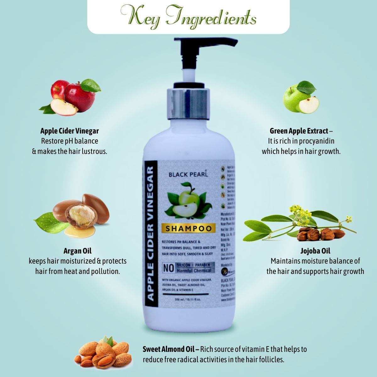 Apple Cider Vinegar Shampoo Key Ingredients
