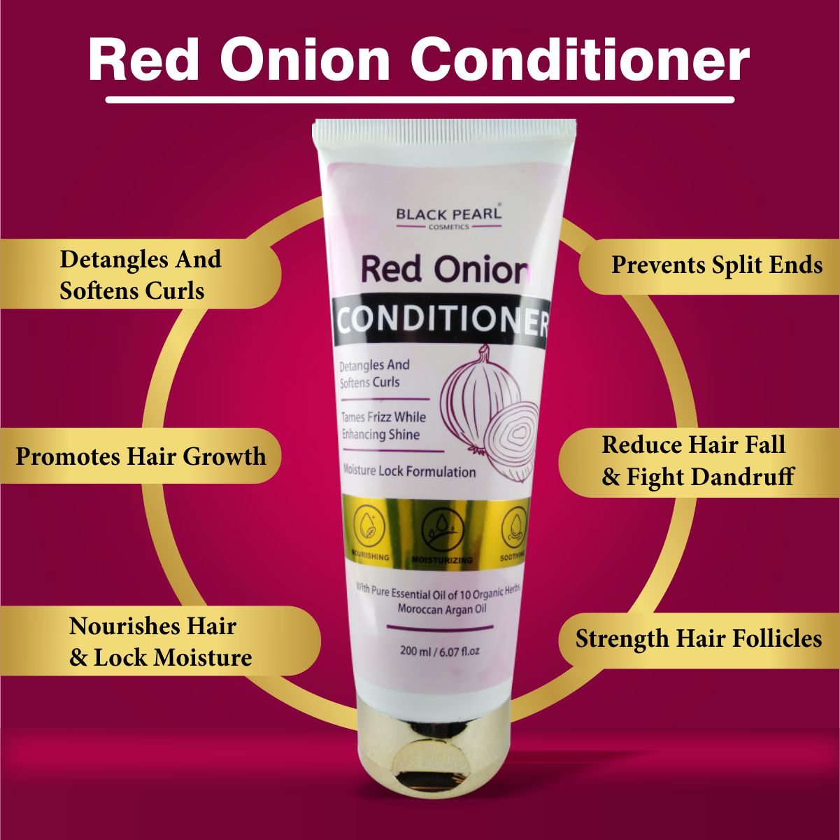 Cosmetic Manufacturer Thane Black Pearl Red Onion Conditioner Benefits