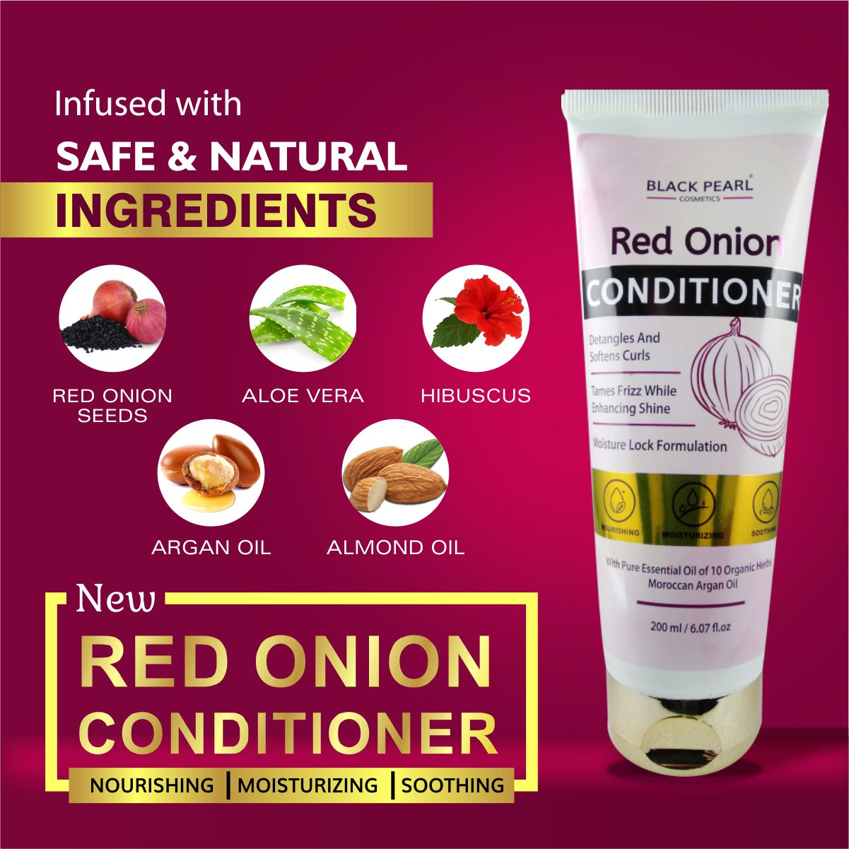 Cosmetic Manufacturer Thane Black Pearl Red Onion Conditioner Ingredients