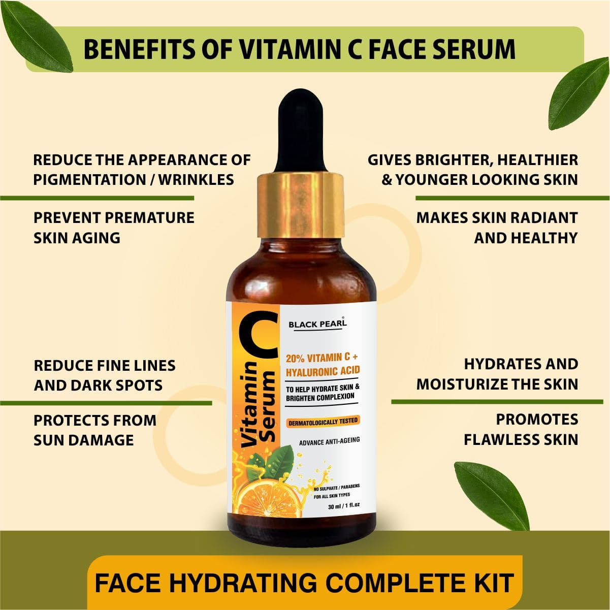 Face Hydrating Complete Kit Benefits of Vitamin C Face Serum