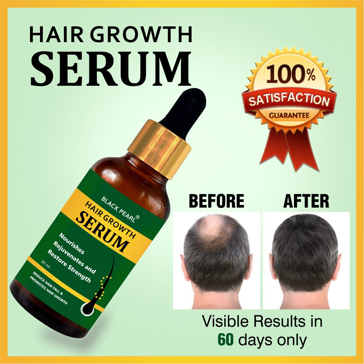 Hair Growth Serum Before After