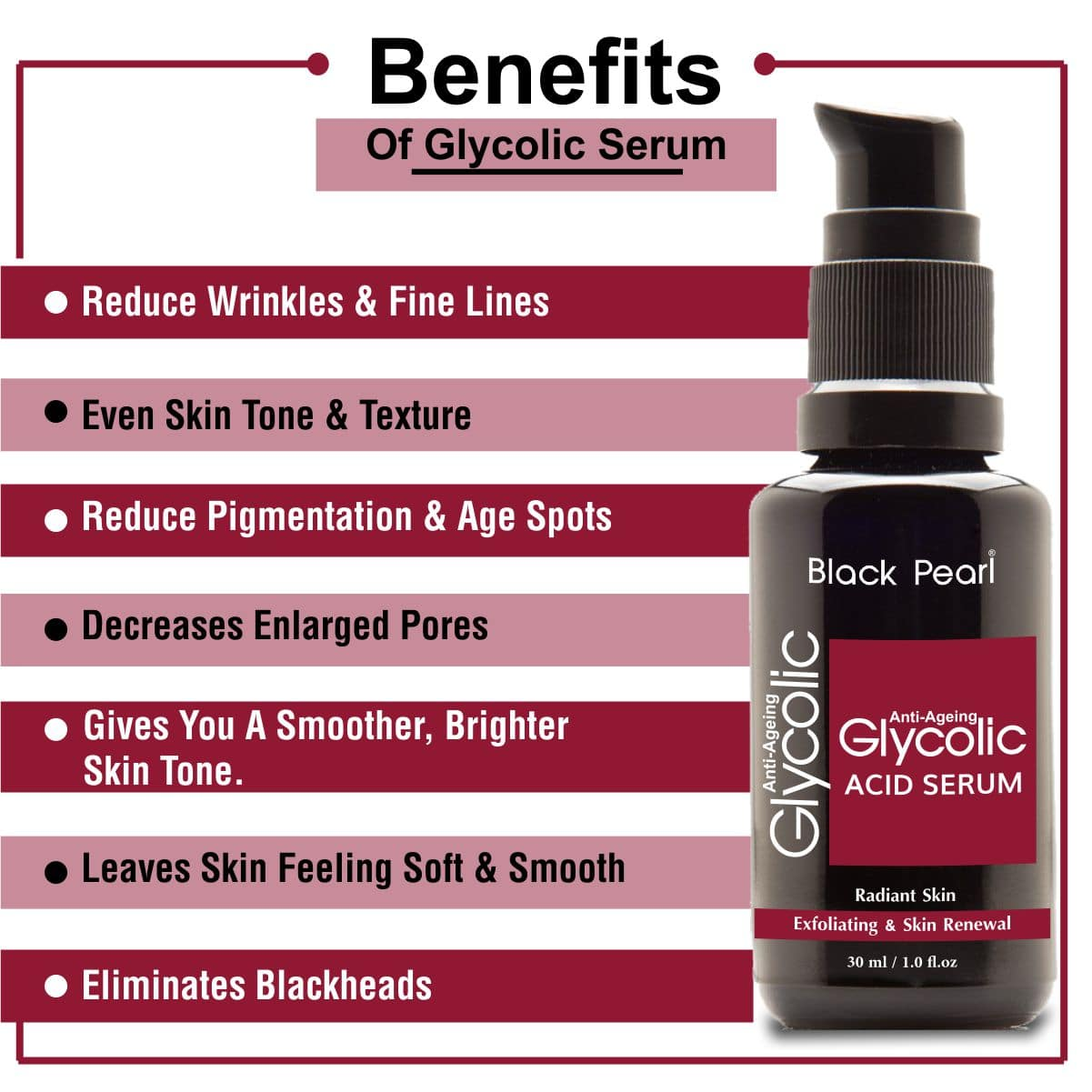 Best Private Label and Third Party Cosmetic Manufacturer Glycolic Acid Serum Benefits