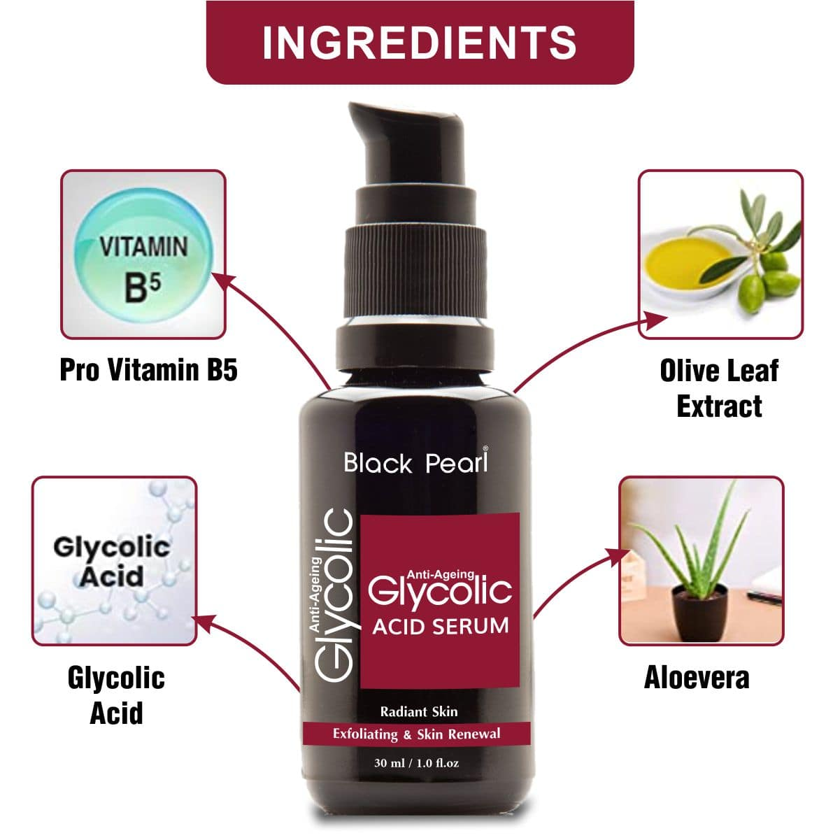 Cosmetic Manufacturers Chandrapur Glycolic Acid Serum Ingredients